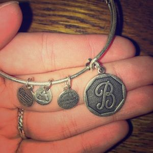 B letter Alex and Ani Bracelet